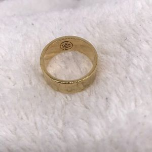 Tory Burch gold tone size 6 ring
